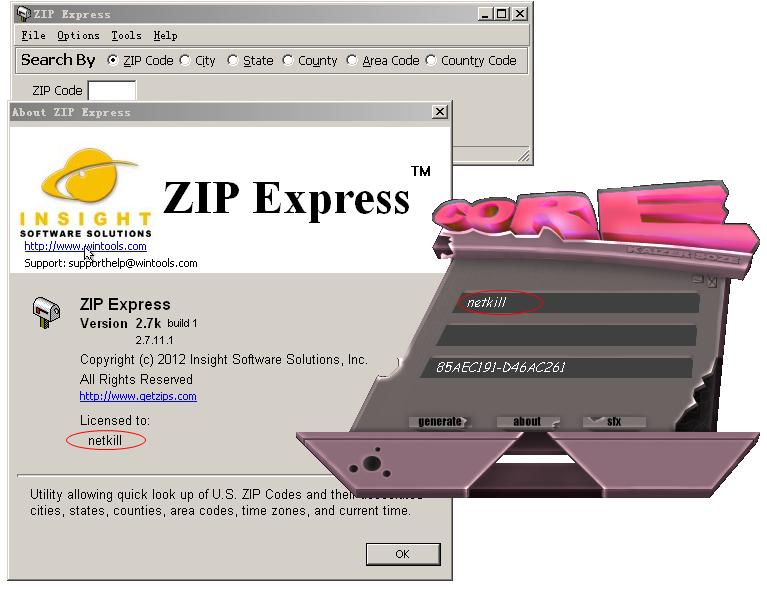 美国邮编查询软件(Zip Express)2.7k build 1 英