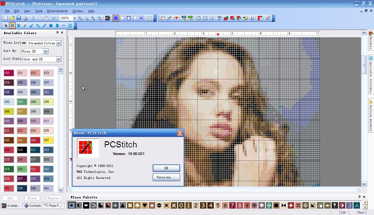 十字绣设计软件(pcstitch)