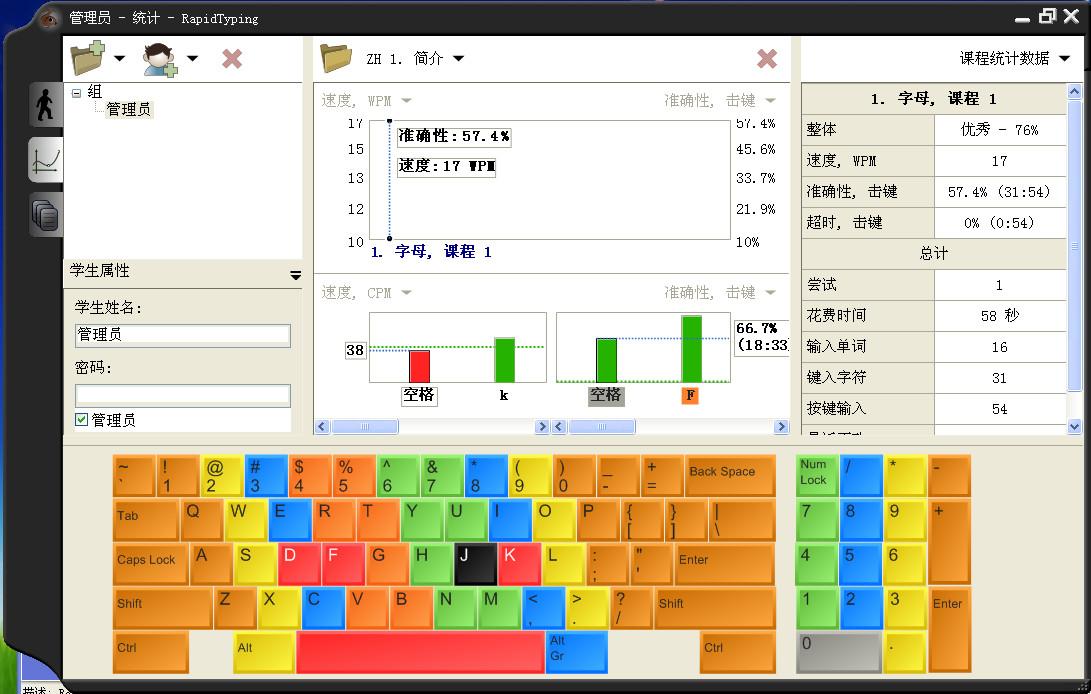 键盘打字指法小游戏_键盘打字练习软件|电脑打字指法练习软件(RapidTyping Typing Tutor)5.0 ...