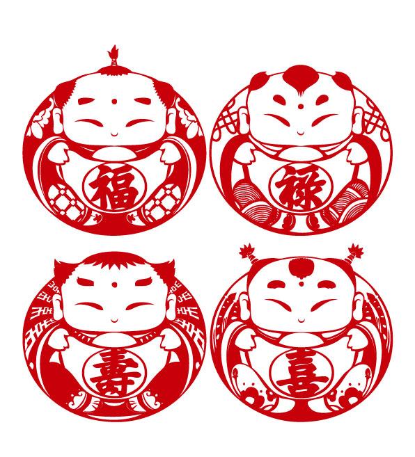 2015春节剪纸图片(羊年春节矢量图)jpg格式高清版