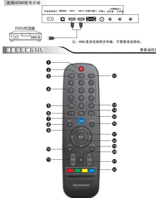 创维32e362w液晶电视使用说明书pdf电子免费版