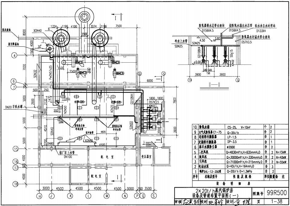 燃煤锅炉房工程设计施工销子|99R101燃煤锅炉图集图纸图片
