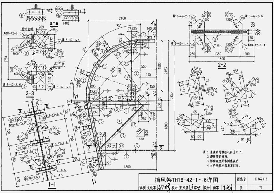 三圾片图集-三级_07j623-3天窗挡风板及挡雨片电子版图集(高清版)pdf格式免费版