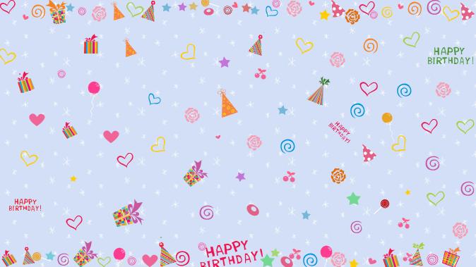儿童生日会电子贺卡动态ppt模板卡通动物免费版