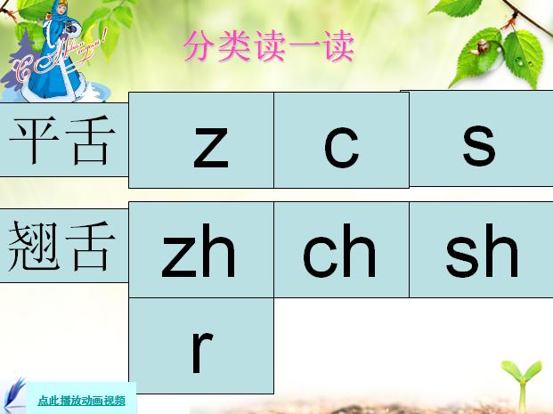 人教版小学一年级语文上册课件 汉语拼音 zh ch