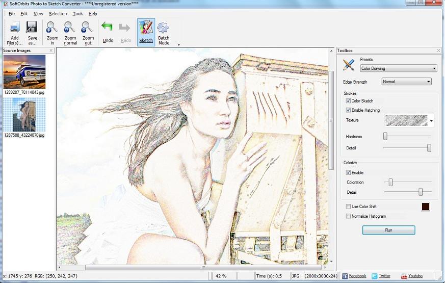 把照片变成手绘的软件(softorbits sketch drawer pro