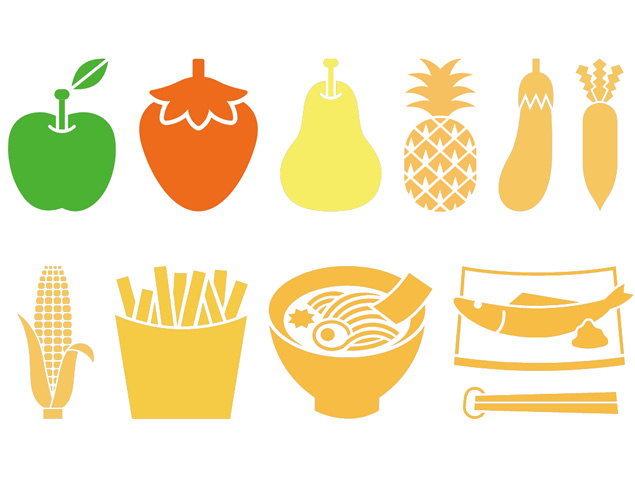 水果食物扁平化ppt图标免费下载