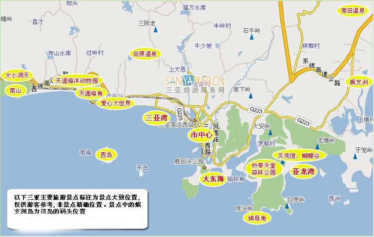三亚旅游攻略地图