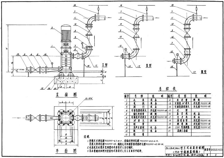 95ss103下载|95SS103隔振水泵图纸及其安装ds5ls钥匙电池换立式图片