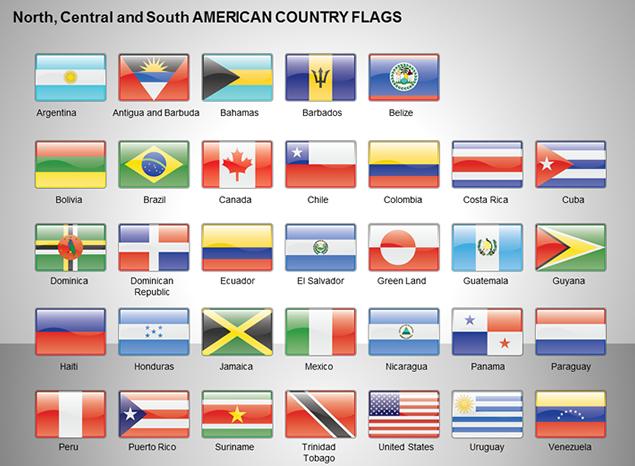 世界各国国旗ppt素材【图表素材】免费下载