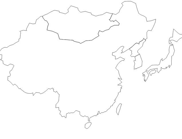 多套世界空白地图ppt素材【62张】免费下载