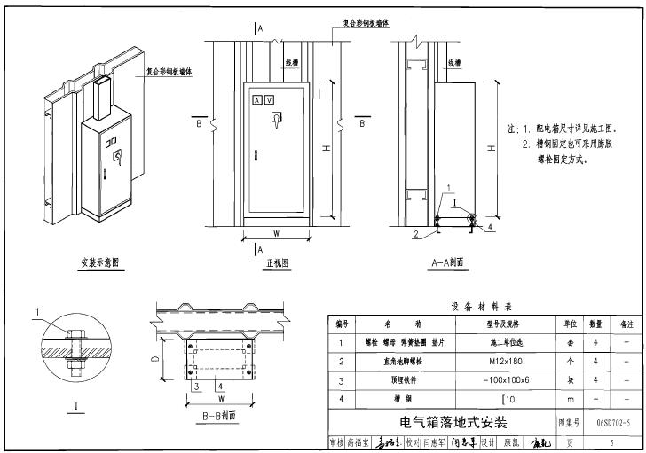 06sd7025图纸免费下载|06SD702-5电气设备在下载cad图集v图纸图片