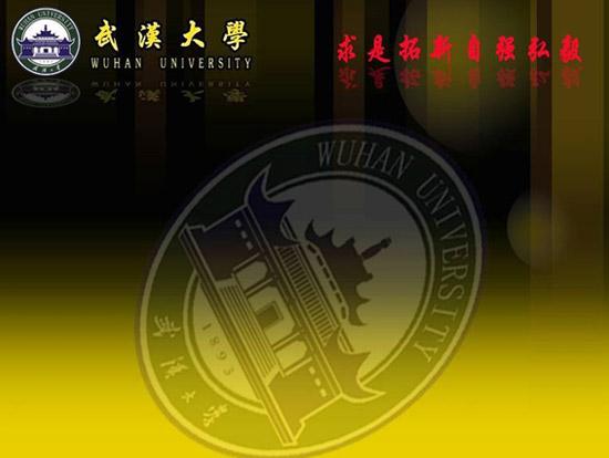 武汉大学ppt模板 下载 武汉大学PPT背景模板免