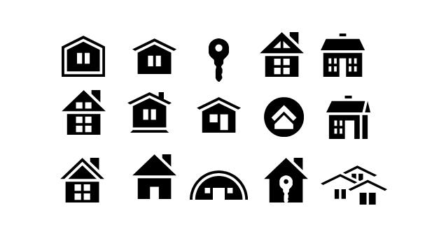 小房子图标ppt素材