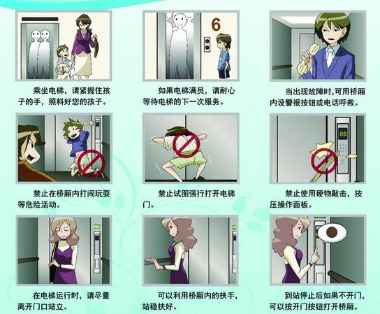 电梯乘坐安全须知ppt打包免费版