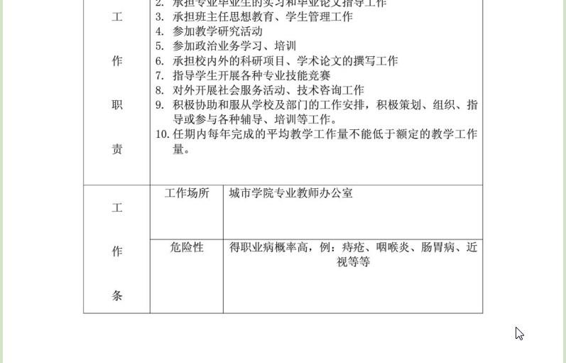 【大学老师任现岗位以来完成岗位职责情况】