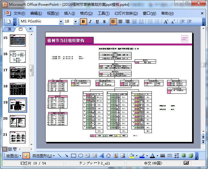 2018植树节营销策划模板ppt方案(共44页)中分图解编发图片